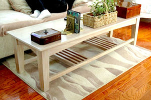 "#362 Mahogany coffee table 66""L x 24""W x 18""H Finish: Bleached with white wash stain and stain lacquer"
