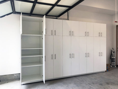 Brooke garage cabinet open