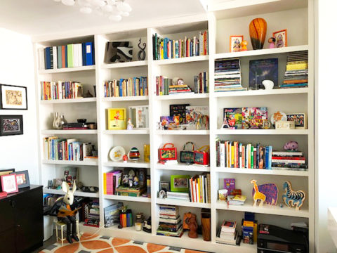 Maggie bookcase arranged